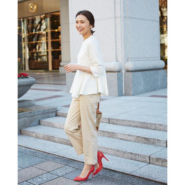 【Cotton pants】レディース  綿 ツイル パンツ