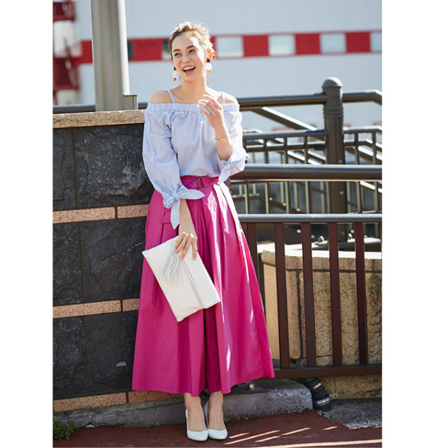 【Long flare skirt gaucho】レディース  ロング スカーチョ