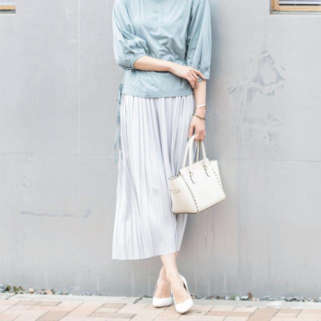 【Pleats wide pants】レディース  プリーツ ワイド パンツ