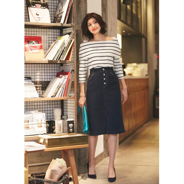 【Denim tight skirt】レディース デニム スカート