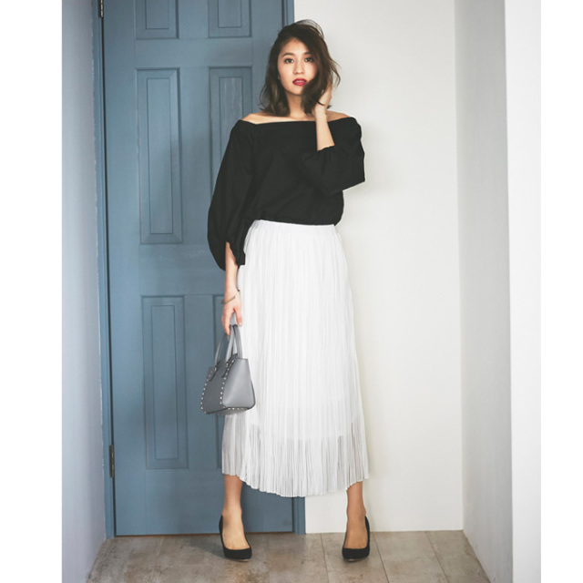 【Long pleats skirt】レディース  プリーツ スカート