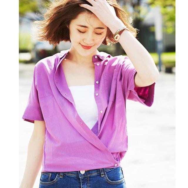 【2way design blouse】レディース  2WAY  ブラウス