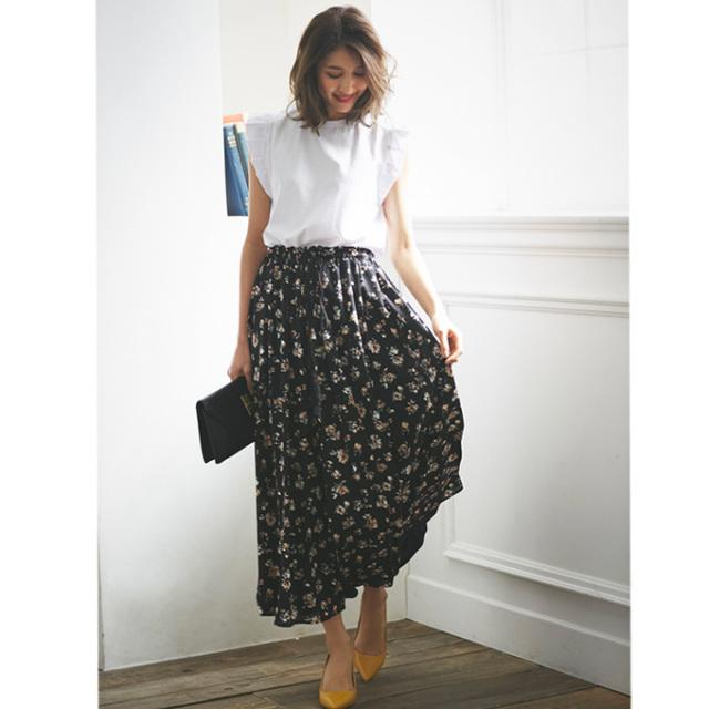 4月14日午前0:00再販【Flower print skirt】レディース  花柄 スカート