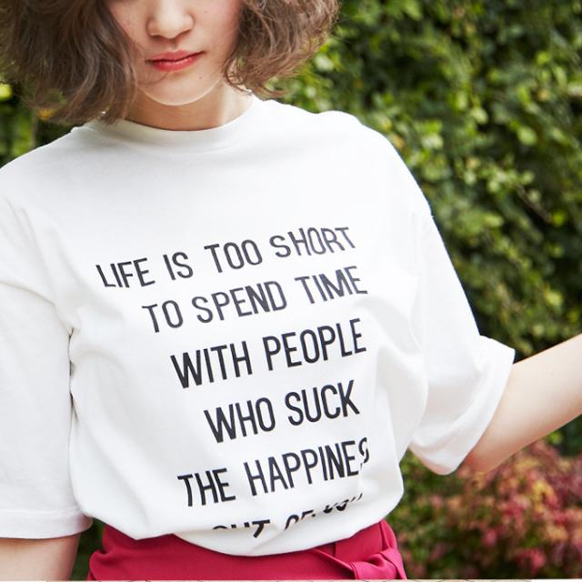 【Logo print T shirt】レディース  ロゴ Tシャツ