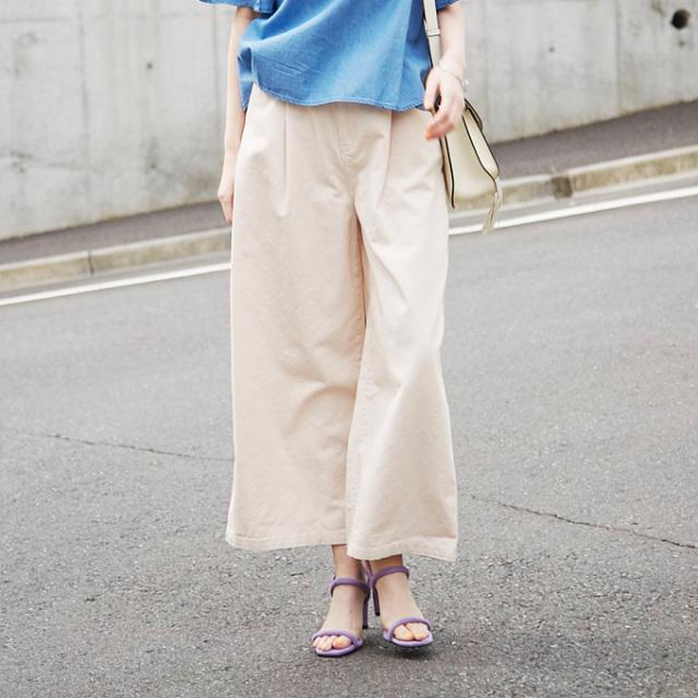 4月23日午前0:00再販【High waist wide pants】レディース  ワイド パンツ