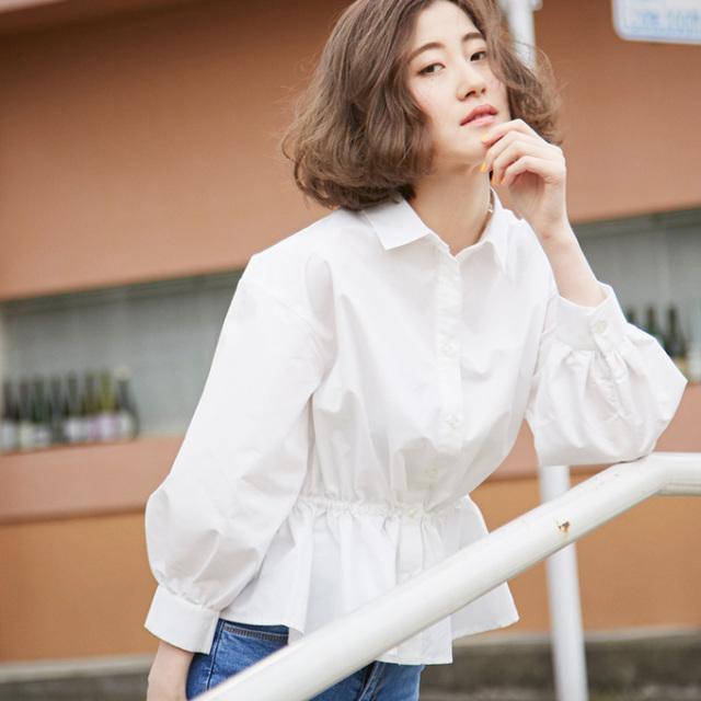 【Gather design blouse】レディース  ギャザー ブラウス