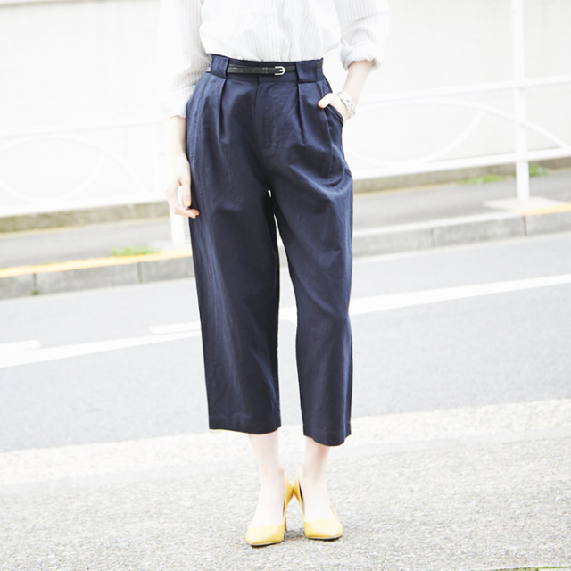 【Tuck design pants】レディース  タック パンツ