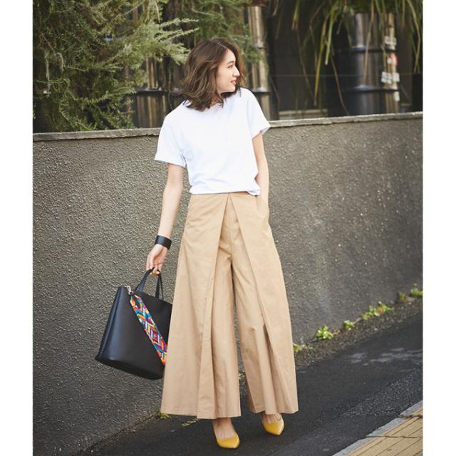 4月18日午前0:00新色&再販【Tuck wide pants】レディース  タック ワイド パンツ