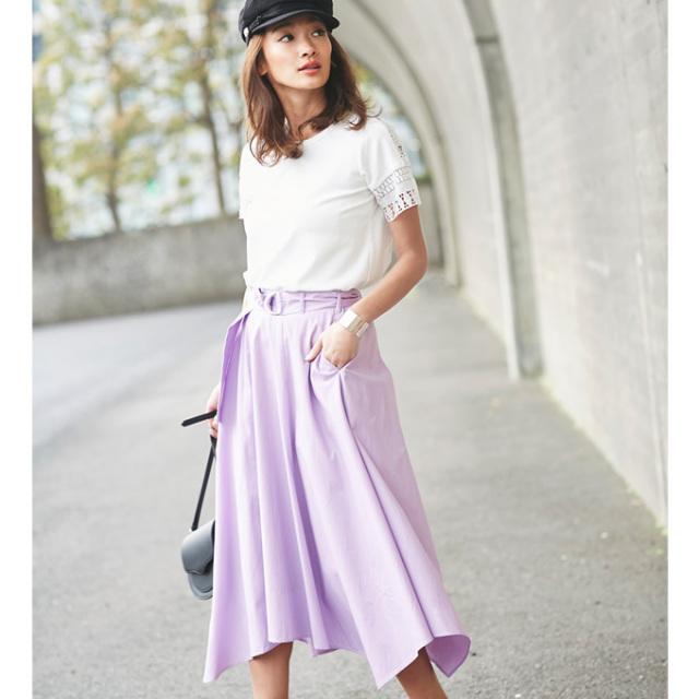 【Side long skirt】レディース  サイド ロング スカート