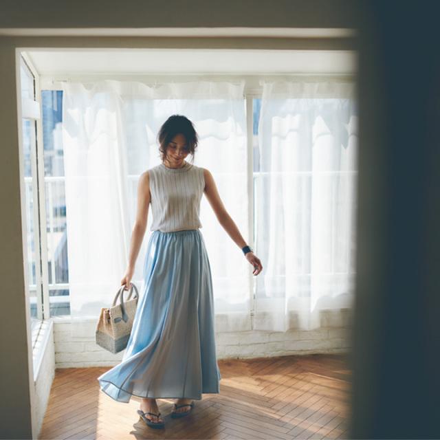 高橋志津奈さん着用【Linen maxi skirt】レディース 麻 マキシ スカート