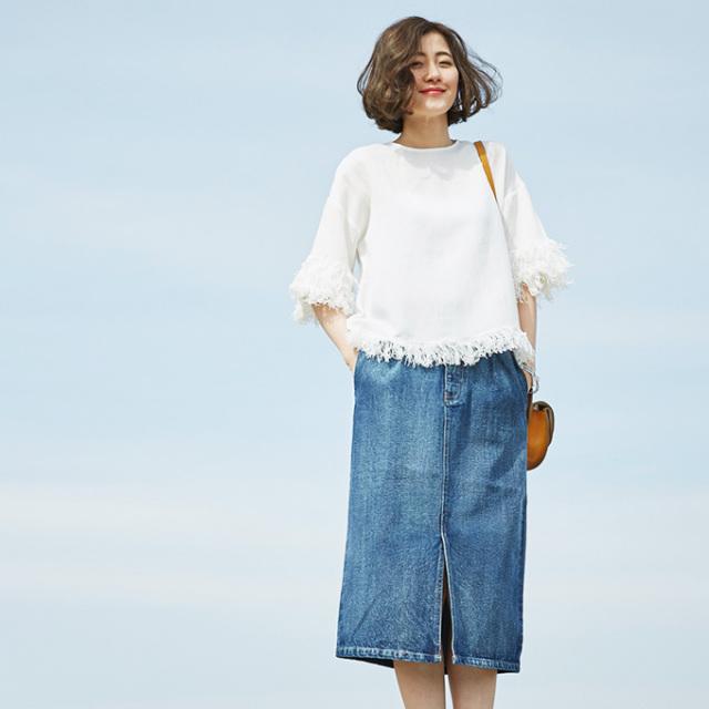 【Denim skirt】レディース  デニム スカート