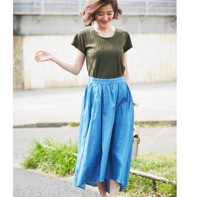 【Denim asymmetry skirt】レディース  デニム スカート