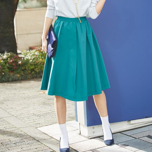 ≪andGIRL 11月号掲載≫1月11日午前0:00春の新色!【Asymmetry tuck skirt】レディース アシンメトリー スカート