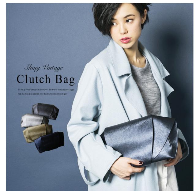 【Shiny Clutch Bag】レディース バッグ