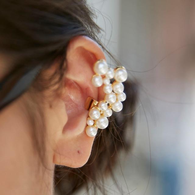 【Pearl bijou ear cuff】※こちらの商品はイメージ違い等・不良品以外のご返品をお断りしております。