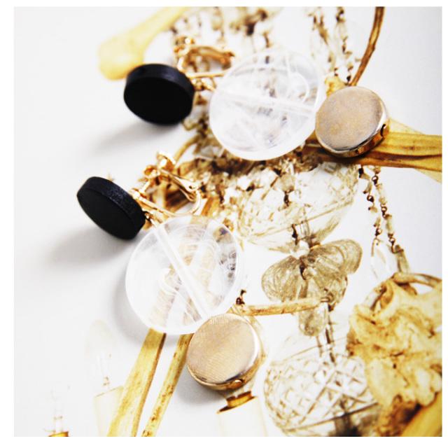 【Wood motif Earrings】レディース ウッド イヤリング