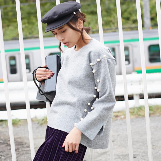 【Pearl design tops】レディース パール トップス