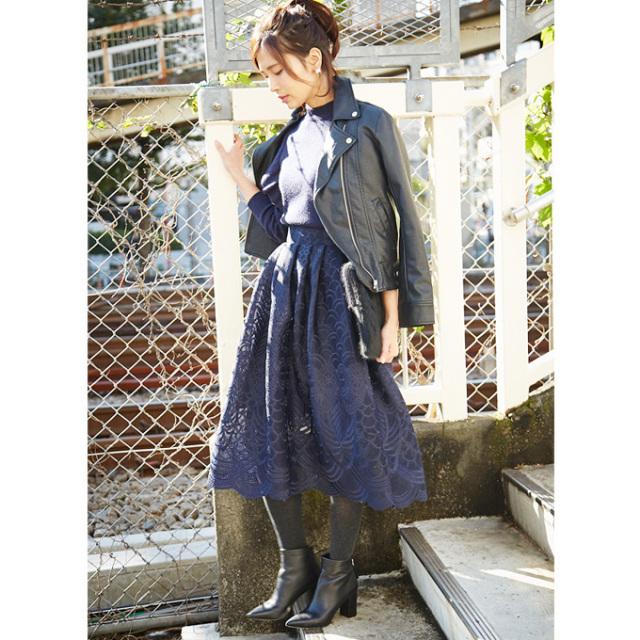 【Lace flare skirt】レディース  レース スカート