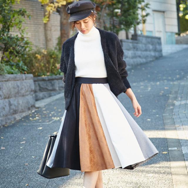 2月26日午前0:00再販【Muliti stripe skirt】レディース  ストライプ スカート