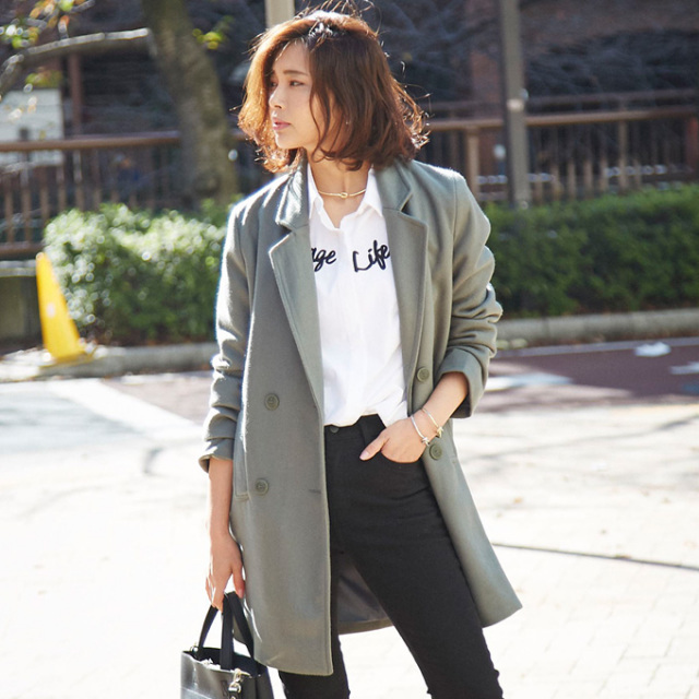 【Wool tailor coat】レディース ウール テーラー コート