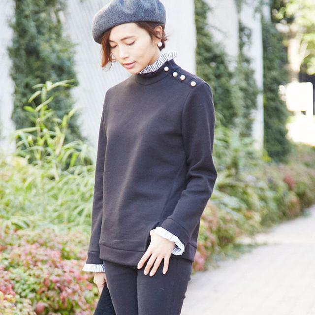 2月28日午前0:00再販【Pearl design tops】レディース パール トップス