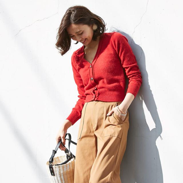 【Wool angola knit cardigan】レディース アンゴラ ウール カーディガン