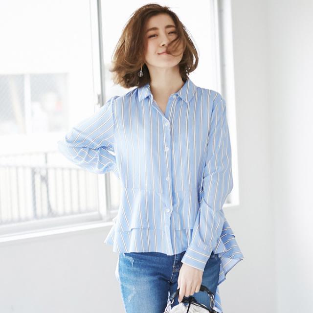 【Fish tale blouse】レディース フィッシュテール ブラウス