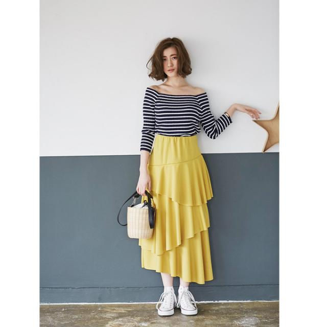 【Asymmetry frill skirt】レディース  アシンメトリー フリル スカート