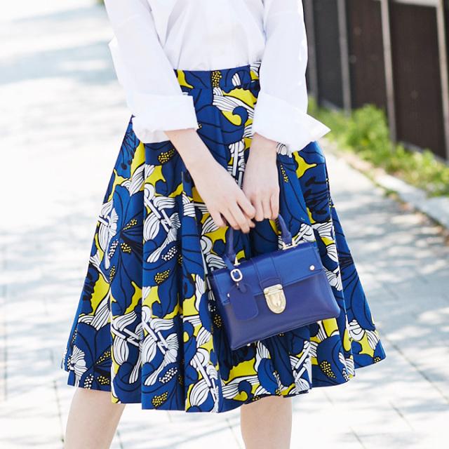 【Flower print flare skirt】レディース  花柄 スカート