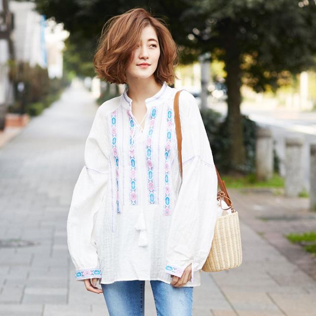 【Embroidery tunic】レディース  刺繍 チュニック