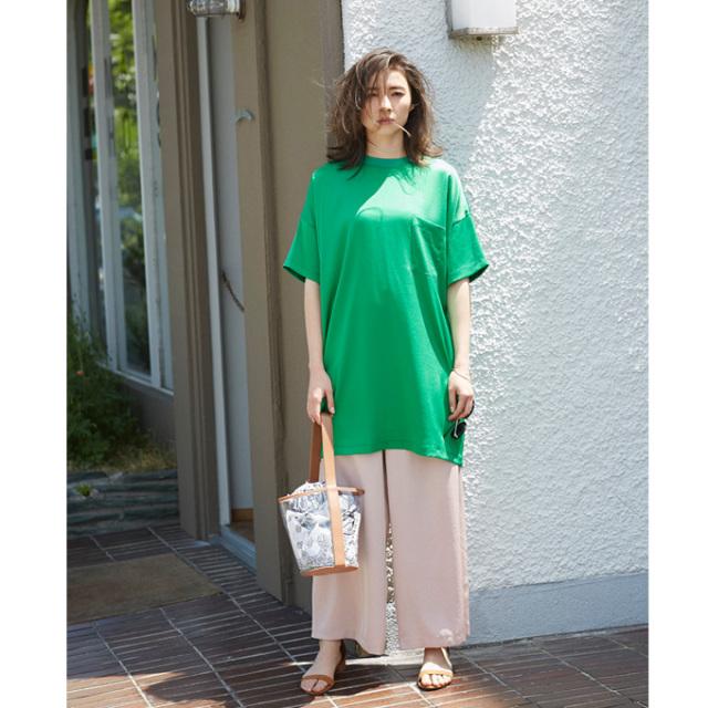 【Shirring wide pants】レディース  シャーリング ワイド パンツ