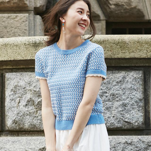 【Geometry pattern knit】レディース  幾何学 ニット