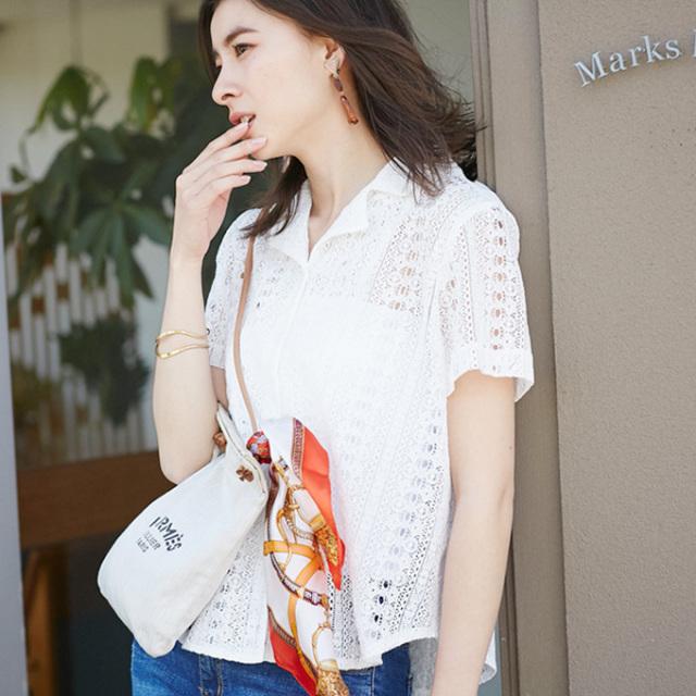 【Lace design shirt】レディース  レース シャツ