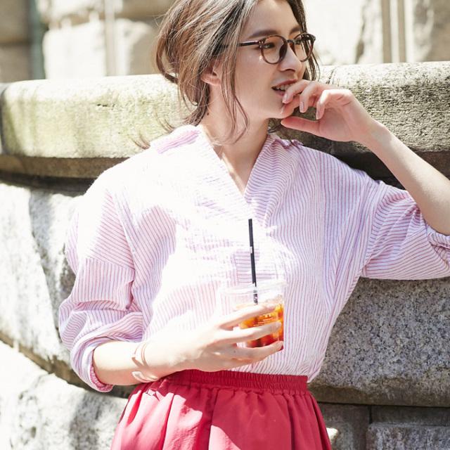 【Stripe shirt】レディース  ストライプ シャツ