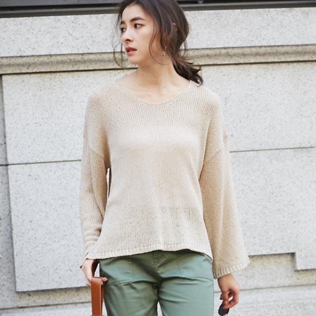 【Summer flare knit】レディース  ざっくり ニット