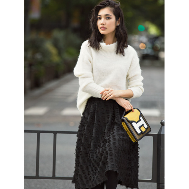 ≪JJ2月号掲載≫1月13日午前0:00再販【Jacquard skirt】レディース ジャガード スカート