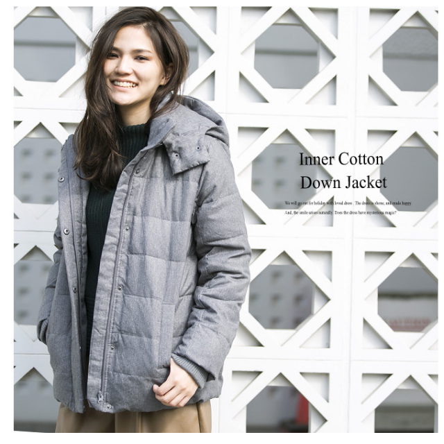 【Inner cotton down jacket】レディース 中綿 ダウン*SALE品につき返品/交換/注文確定後の変更キャンセル不可*