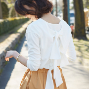《InRed 2月号掲載》【Back ribbon tops】レディース  リボン トップス