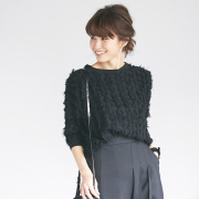 《saita3月号掲載》《JJ12月号掲載》2月7日午前0:00再販【Fringe knit tops】レディース フリンジ トップス