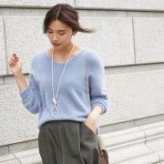 12月25日午前0:00再販【 Feather yarn knit】レディース  フェザーヤーン ニット