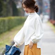 【Baloon sleeve blouse】レディース バルーン袖 ブラウス