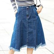 【Landam flare denim skirt】レディース フレア デニム スカート