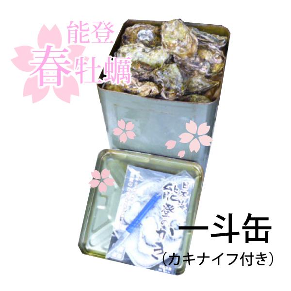 能登春牡蠣を通販・殻付一斗缶・1年もの・加熱用【送料込】