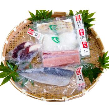 寒ぶりの入った奥能登の刺身セット5種類【刀祢沖〆 の冷凍さしみセット】