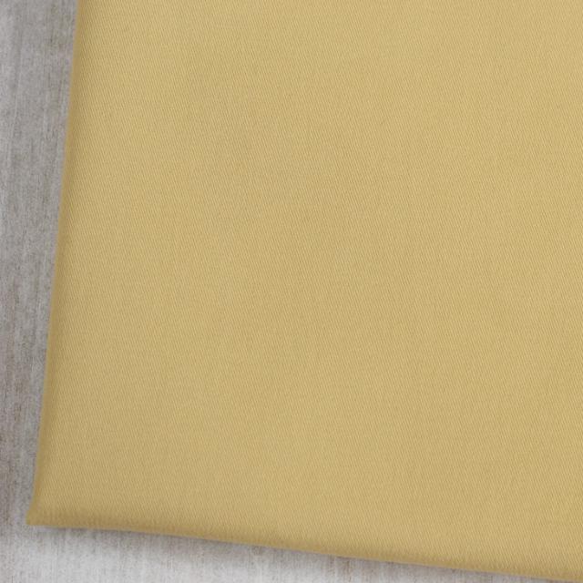 【布帛】表ピーチ起毛ストレッチツイル(イエローベージュ)  オーダーカット