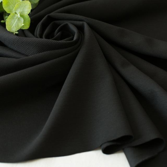 【ニット】シルケット加工40/-リップルストレッチニット(ブラック) オーダーカット