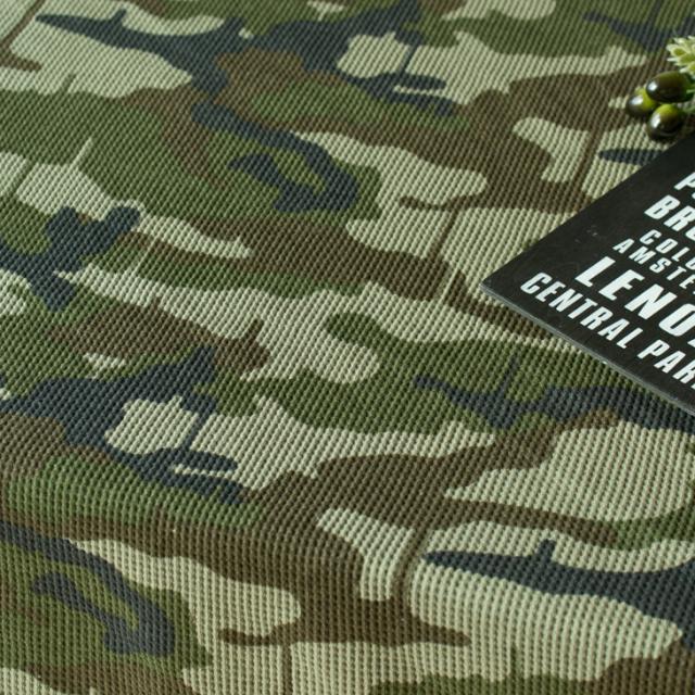 【ニット】カモフラージュ柄ワッフルニット(カーキ系) オーダーカット