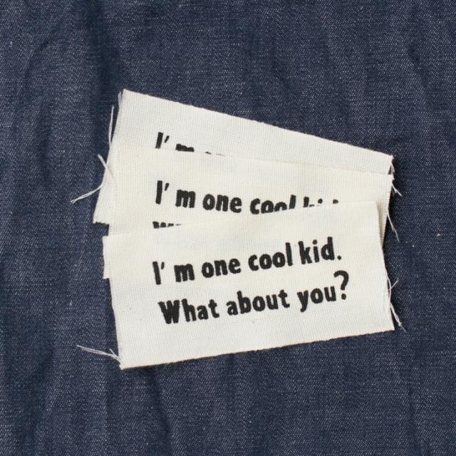 【オリジナルタグ】「I'm one cool kid.」3 枚入り(テープ幅:40ミリ)