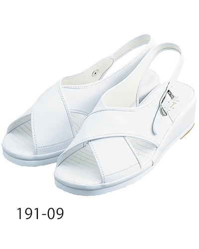 191-09 ナースサンダルクロスタイプ ホワイト KAZEN・カゼン
