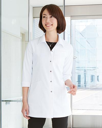 CM781 チュニック 七分袖 薬局衣 WECURE(ウィキュア)
